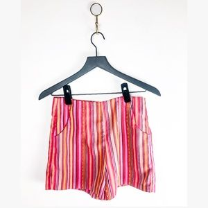 Anthro. Kaisley colorful high waisted shorts